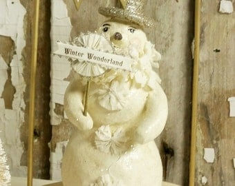 Winter Snowman With Stand