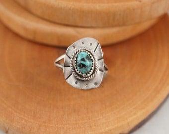 Turquoise Square Sunday Ring