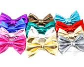 Soft Metallic Bows 3 inch - Hair Bows, Baby Bows, Baby Girl Bows, Baby Hair Bows, Hair Bows for Girls, Hair Bows for Toddlers