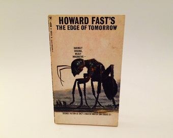 Vintage Sci Fi Book The Edge of Tomorrow by Howard Fast 1966 Paperback
