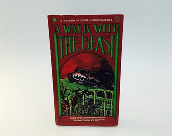Vintage Horror Book A Walk with the Beast 1969 Paperback Anthology