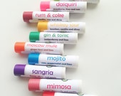 Any 10 cocktail-flavored lip balms from Aromaholic - add note at checkout with flavors - Cosmo, Pink Champagne lip balm and more