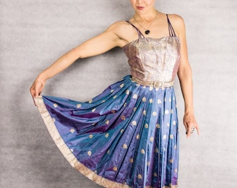 50s VTG Hour Glass Ballet India Dress///size small