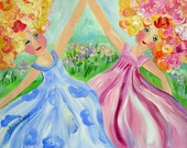 Little Dancers Original Painting Portrait 16 x 20  Art by Elaine Cory
