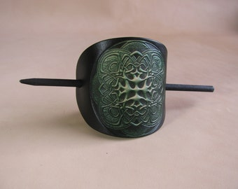 Leather Barrette/ Large