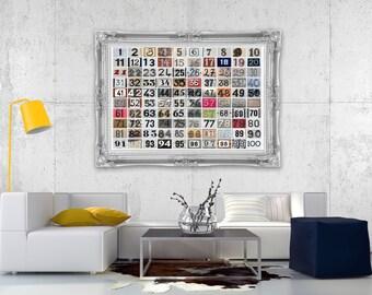 Numbers 1-100 | Brugges | Belgium | Address Plates | Nursery Art | Subway Art | Home Decor | 5x7 | 8x10 | 8x12 | 11x14 | 16x20