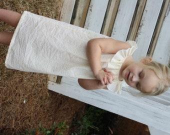 Seersucker dress with monogram, monogram girl dress, personalized baby gift, yellow seersucker dress