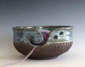 Large Yarn Bowl, knitting bowl, pottery yarn bowl, pottery knitting bowl, handmade ceramic yarn bowl, READY to Ship