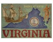 VIRGINIA 1FS- Handmade Leather Photo Album - Travel Art