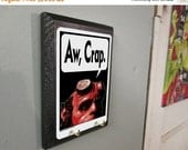 ON SALE Aw Crap COMPLETED Key Holder - Hellboy inspired Pop Art Comic Book Print