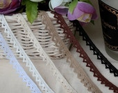 cotton torchon lace by the yard (width 1cm) 83491
