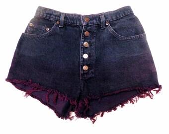 Studded Ombré High Waisted Shorts Size 9