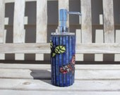 Butterfly mosaic soap/lotion dispenser, soap dispenser, lotion dispenser, mosaic dispenser, glass mosaic, butterfly mosaic, butterfly