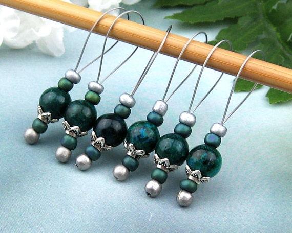 Knitting Accessories Australia : Stitch markers knitting australian jade semi precious
