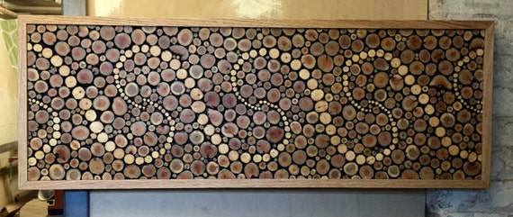 "Reclaimed Wood Wall Art: ""Grace Spirals"""