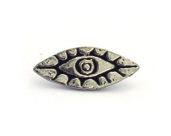 Green Girl Studios Eye Buttons Pewter
