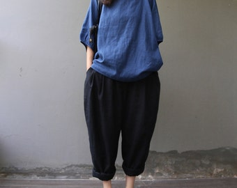 Casual Loose Fitting Comfortable and casual Radish pants - Women Clothing (QK006) - Black