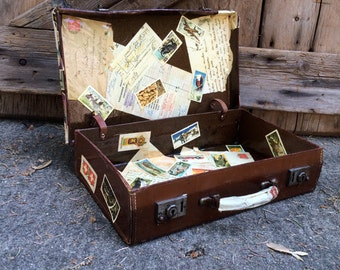 Small Travel Suitcase Stage Prop Travel Stickers Decoupage