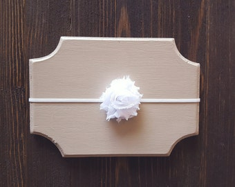 Girls White Headband, Baby Headband, Newborn Headband, White Headband, Girls Headband, White Flower Headband, Photography Prop