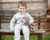 2 linen gray suits for twins - Size 3T - express shipping with DHL