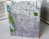 California Recycled Journal - Pasadena, Altadena - US Maps - Vintage Map Sketchbook  - American Made