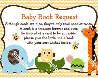 Printable Jungle Stack Animals Elephant Giraffe Turtle Owl Alligator Chevron Book Request Cards Instant Digital Download