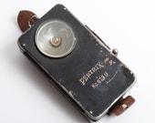 Vintage antique metal Flashlight Pertrix 679L . Made Germany WW2 era