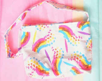 Barbie watercolor print vintage style upcycled little girl size purse