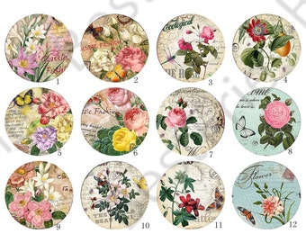 4 pcs 10mm,12mm,14mm,16mm,18mm,20mm,25mm,Flower Round photo Glass Cabochons ,jewelry Cabochons finding beads,Photo Glass Cabochons,Cabochons