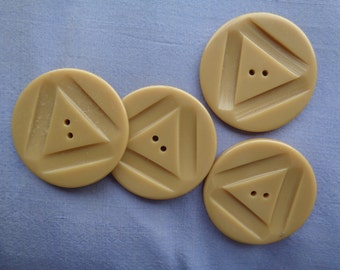 Large Tan 1940s-era Buttons - Coat Buttons