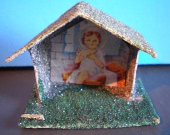 Vintage Mid Century Christmas Decoration - Ornament - Baby Jesus