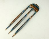 Three Prong Hair Fork made from Earth & Sky DymondWood-  Very durable. Water resistant.