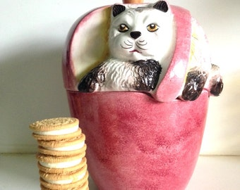 Midcentury Italian Kitty Apple Cookie Jar