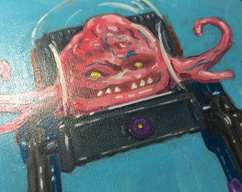Krang action figure painting.