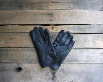 Vintage Black Driving Gloves