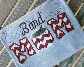 Band Mom Shirt with drum