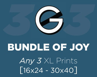 XL Buyer's Choice 3-pack // Save 5% Discount Bundle // Mix and Match Any Three Super-sized Geek Posters or Prints from The Geekerie