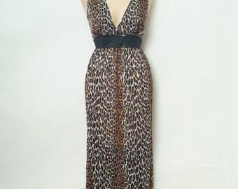 vintage nightgown / Retro / Vintage nightgown / Vintage  / Vintage Lingerie / nightgown / 60s  / Burlesque / Pinup  / lingerie / Leopard