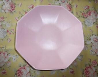 "Vintage Pottery Royal Haeger PINK Bowl Dish Serving Platter RG131 Console 11.5"""
