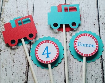 12 Train Cupcake Toppers - Train Birthday - First Birthday - Choo Choo - Trains - Party Decor - Toppers