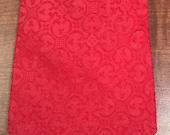 Vintage Solid Red Mens Wide Polyester Necktie  by Bernhard's Mr. Man-vintage red necktie, Valentine's Day, wide necktie, hipster,hipster tie