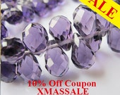 HOLIDAY SEASON SALE! Teardrop crystal beads, 100PCs 19inch strands 13mm faceted side drill teardrop crystal, purple crystal jewelry supplies