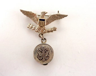 WWII Sweetheart Pin Silver Eagle Officer's Hat