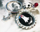 Sixpenceee Ghost Icon Keychain