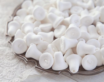 BULK Small Spun Cotton Bells - Vintage-Style Craft Shapes, 100 Pcs.