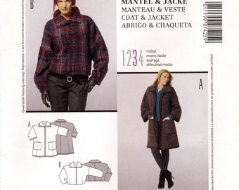 Burda Style 7425 Sewing Pattern for Misses' Coat and Jacket - Uncut - Size 8/10, 12/14, 16/18, 20/22