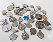 35 Vintage French Religious Medals