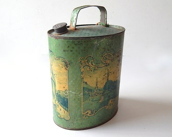 Antique Lourdes Souvenir French Flask Water Carrier for Water from Lourdes