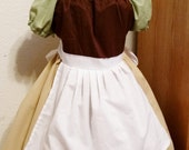 Cinderella Pull Over Rag Dress with hair Scarf