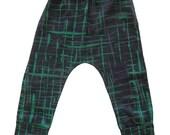 Boy Harem Pants , Kids Harem Pants, Baby Harems, Grey and Green Baby Pants 3M-2Y